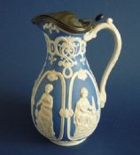 William Brownfield Glazed Parian on Blue Ground International Exhibition Jug c1862